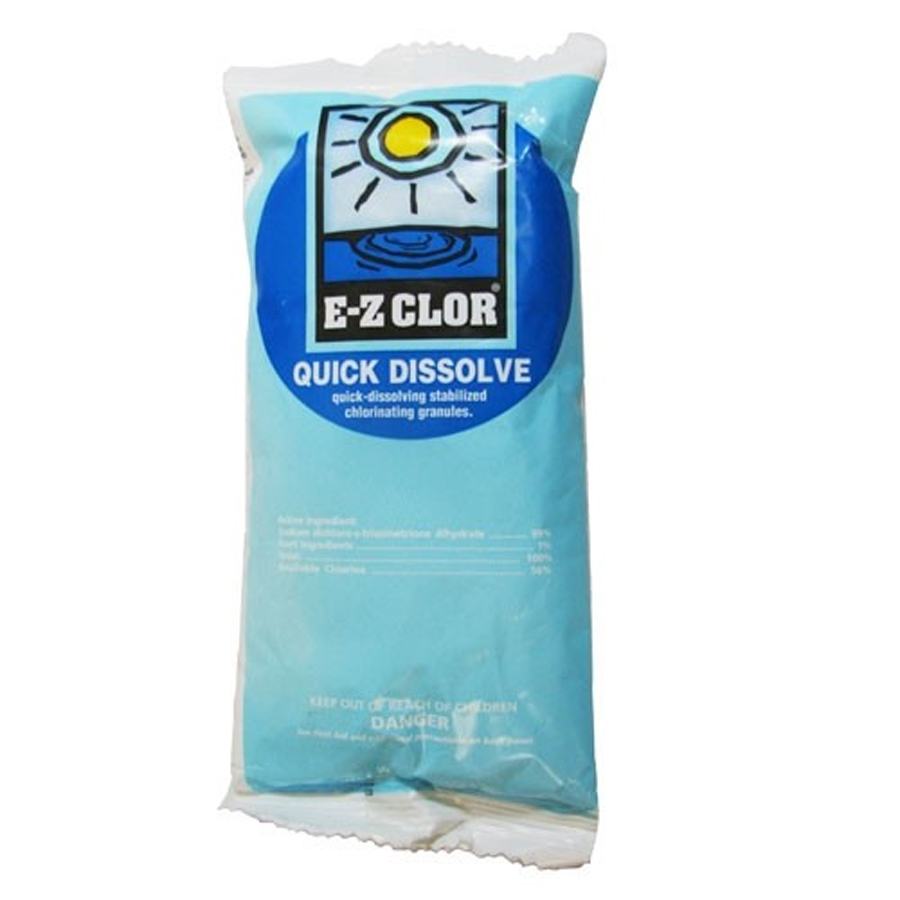 E-Z CLOR Quick Dissolve Shock (Sodium Dichlor) 25 lb. Bucket
